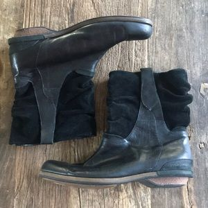 Patagonia Addie Leather and Suede Black Boot 10.5